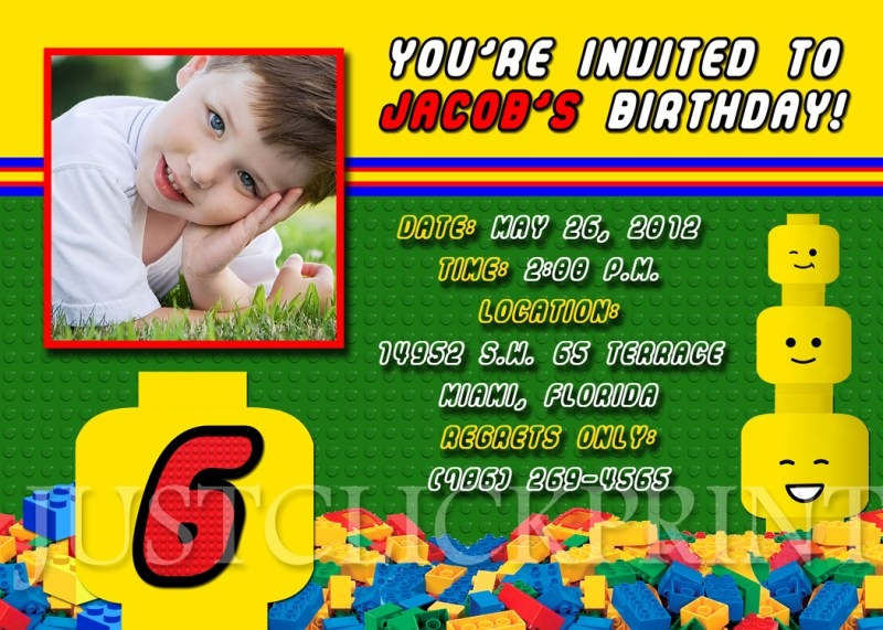 Large Of Lego Birthday Invitations
