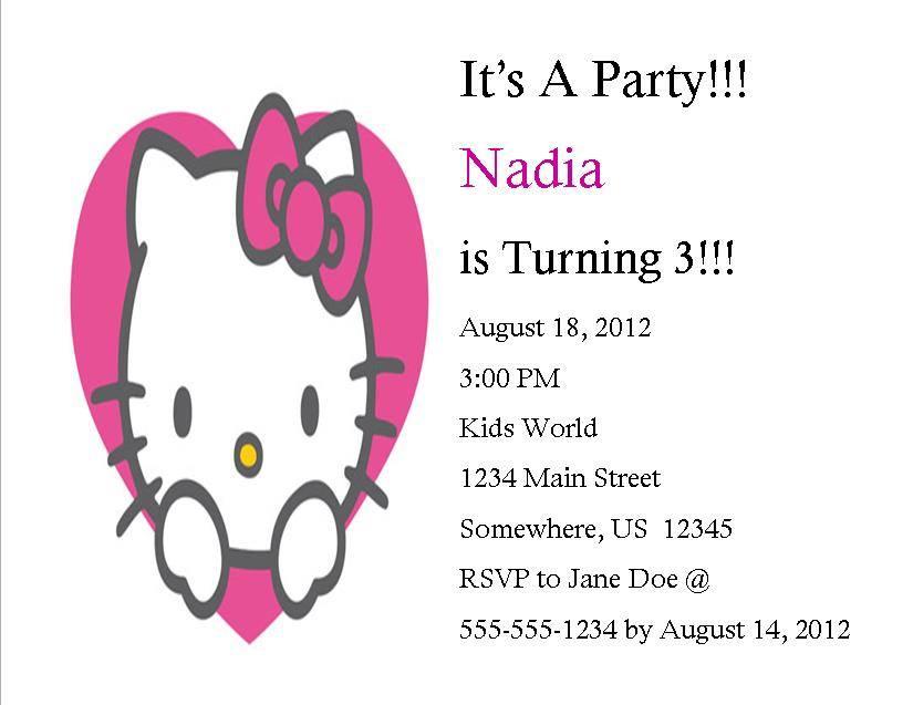 Hello Kitty Birthday Invitation 3 · Southern Desktop Publishing