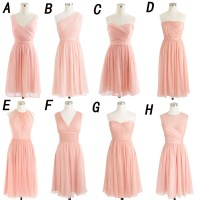short bridesmaid dress, pink bridesmaid dress, mismatched ...