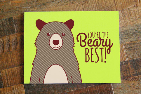 Friendship Or Love Card You39re The Beary Best Pun Card