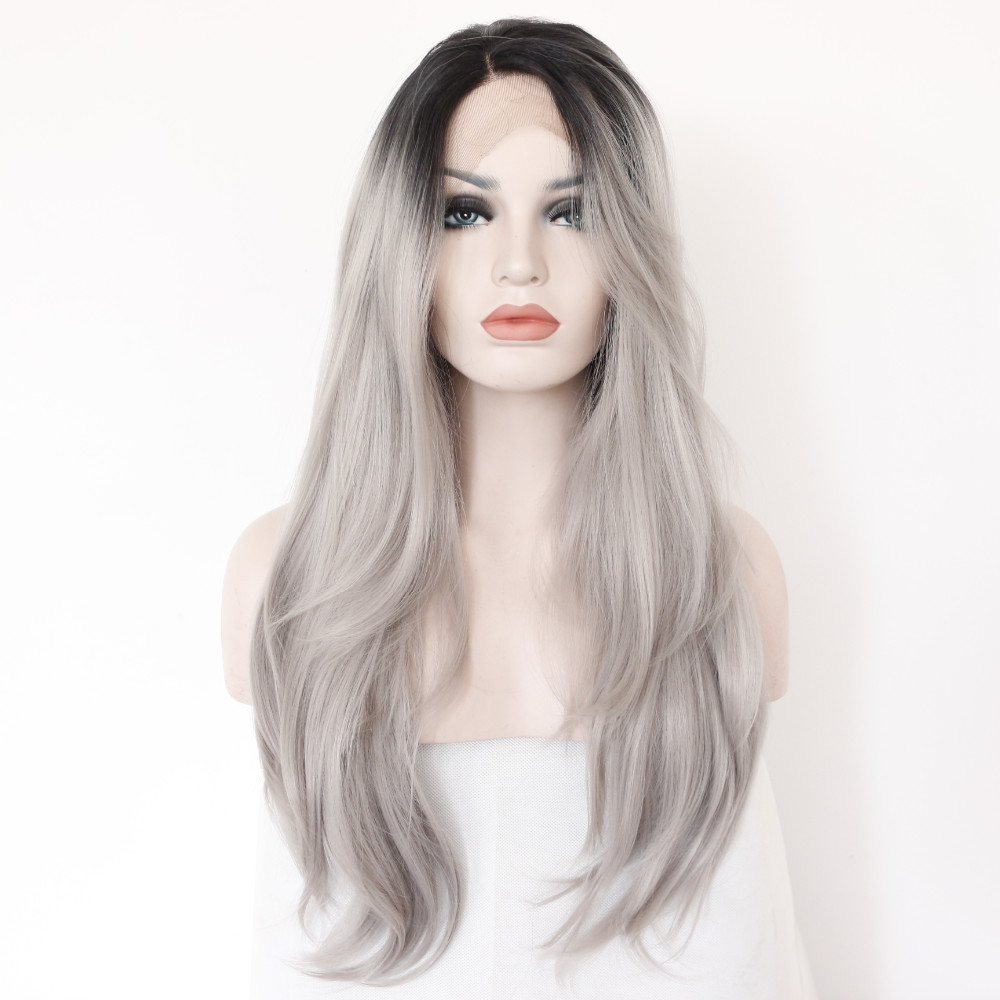 Ombre Abu Abu Front Lace Grey Ombre Wig