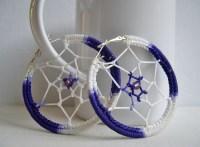 Dream Catcher earrings - Big hoop earrings - big purple ...
