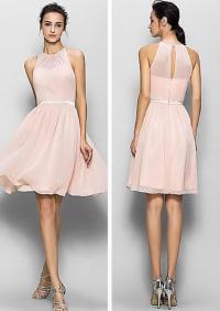 Blush pink bridesmaid dresses, short bridesmaid dresses ...