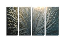 Radiance Silver and Gold 36x63 - Abstract Metal Wall Art ...