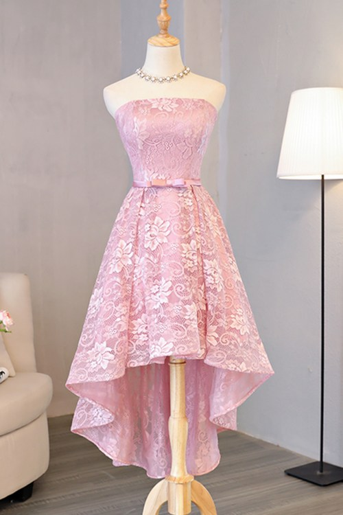 Beauteous Bow Pink Lace Low Homecoming Halter Prom Dress Pink Lace Low Homecoming Halter Prom Dress Cheap Prom Dresses Uk Under 50 Cheap Formal Dresses Uk