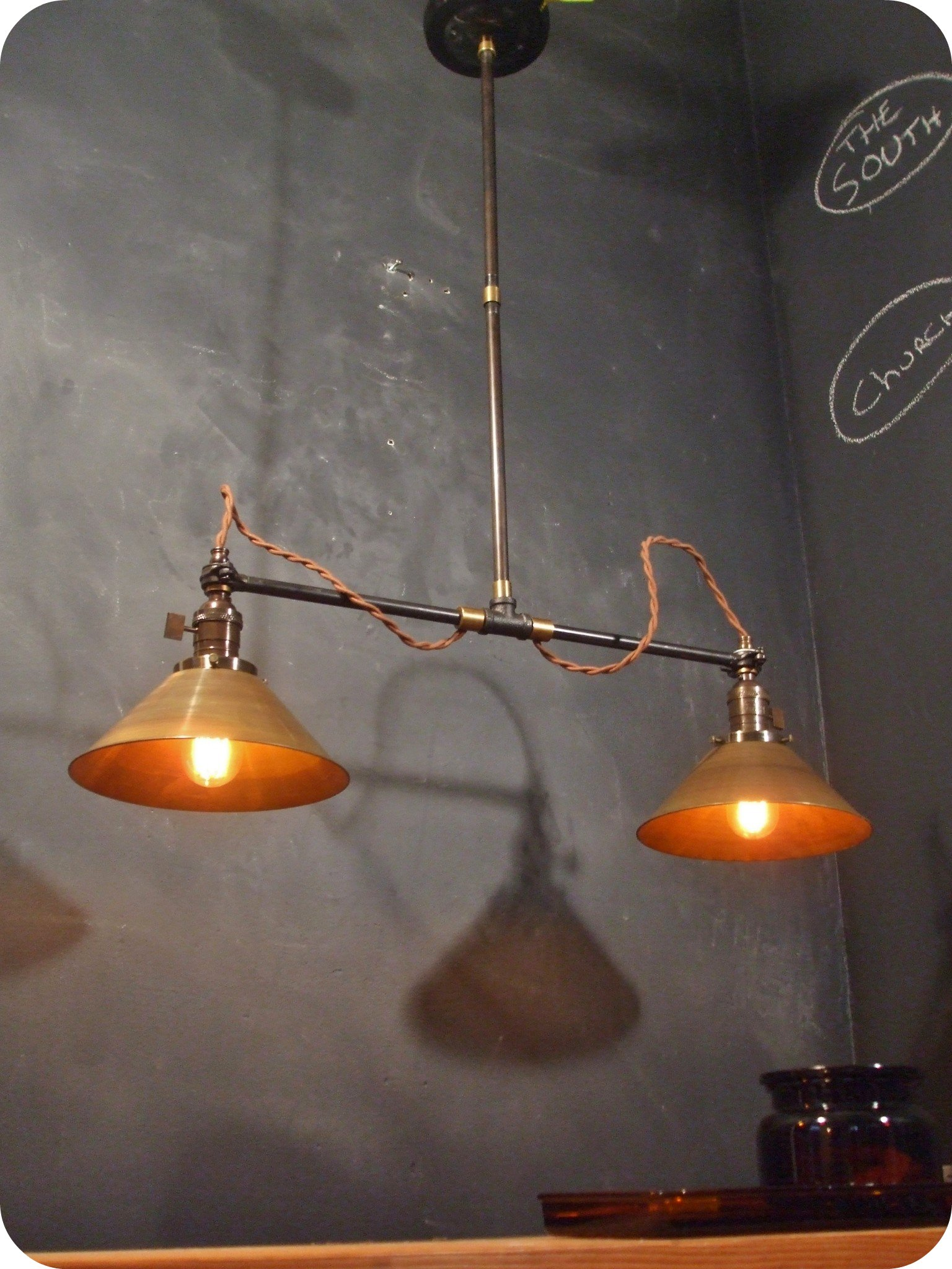 Old Industrial Lighting Vintage Industrial Ceiling Scone Double Brass Cone