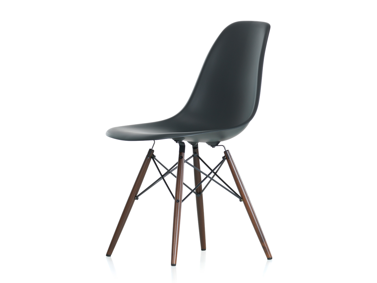 Eames Vitra Buy The Vitra Dsw Eames Plastic Side Chair Dark Maple Base