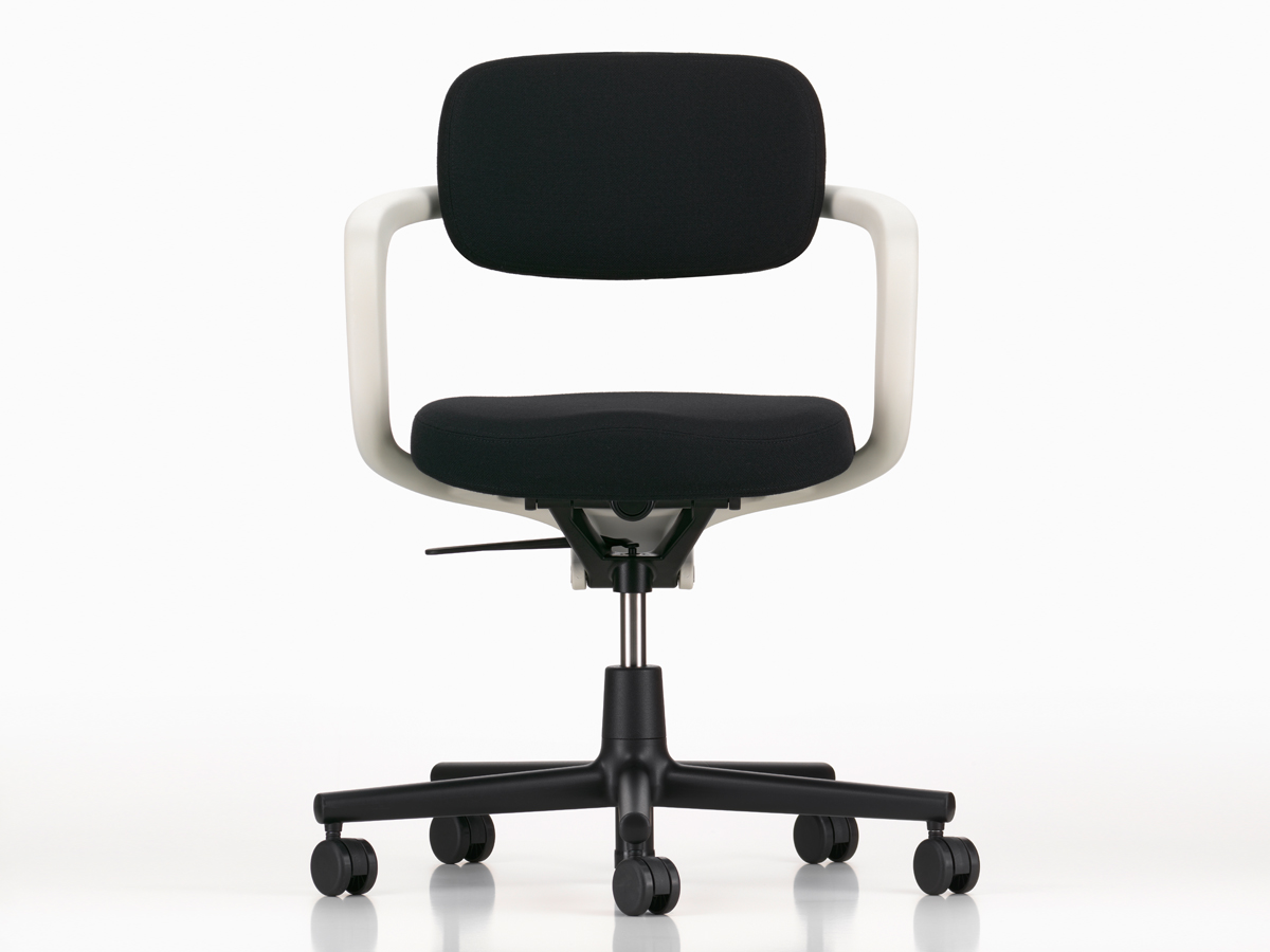 White And Black Office Chair Buy The Vitra Allstar Office Swivel Chair White At Nest Co Uk