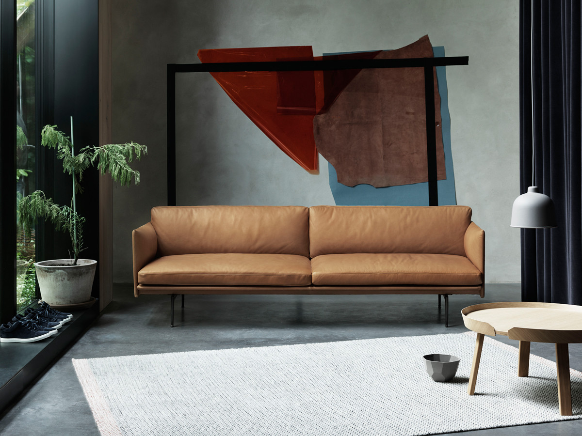 Designer Wohnlandschaft Buy The Muuto Outline Three Seater Sofa Leather At Nest.co.uk