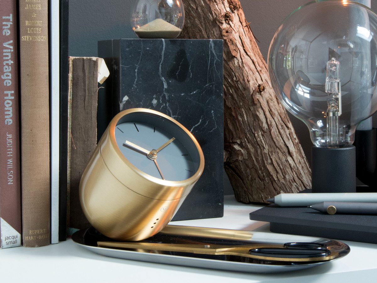 Architecture Gifts For Him Buy The Menu Norm Tumbler Alarm Clock Brass At Nest Co Uk