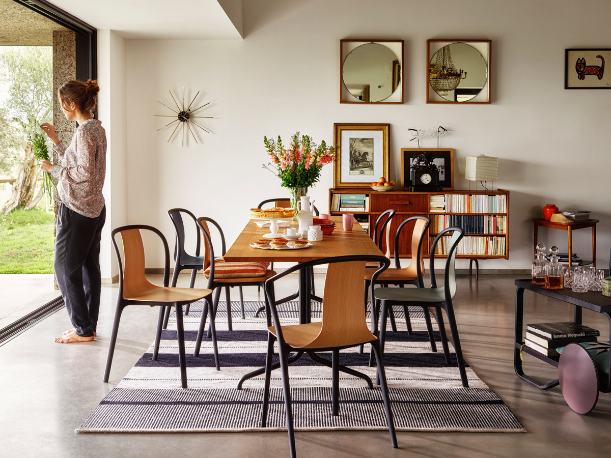 Buy The Vitra Belleville Armchair Wood At Nestcouk