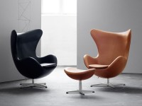 Buy the Fritz Hansen Egg Lounge Chair - Leather at Nest.co.uk