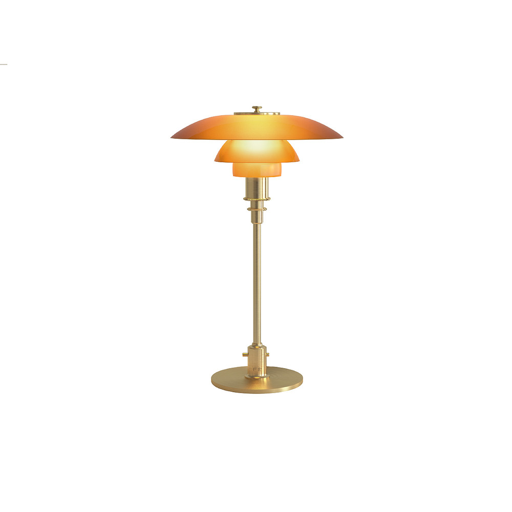 Louis Poulsen Ph 3 2 Louis Poulsen Ph 3 2 Amber Glass Table Lamp Limited Edition