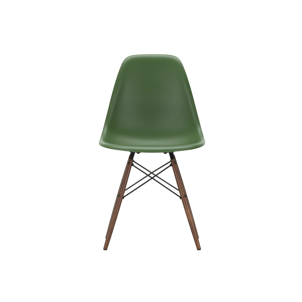 Vitra Eames Side Chair Vitra Dsw Eames Plastic Side Chair Dark Maple Base