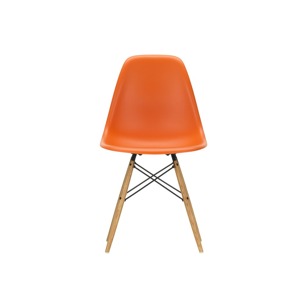 Vitra Eames Side Chair Vitra Dsw Eames Plastic Side Chair Golden Maple Base