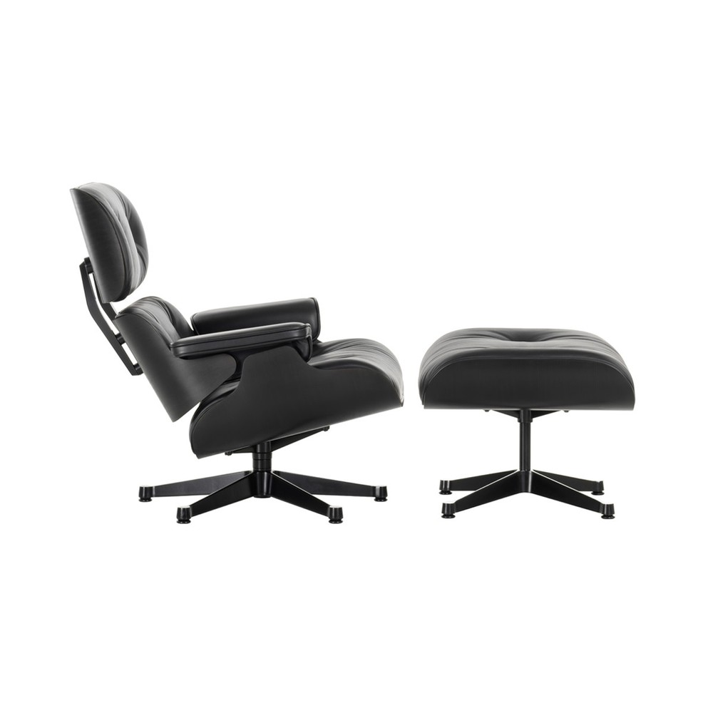 Vitra Eames Lounge Chair Black Vitra Eames Lounge Chair Ottoman All Black