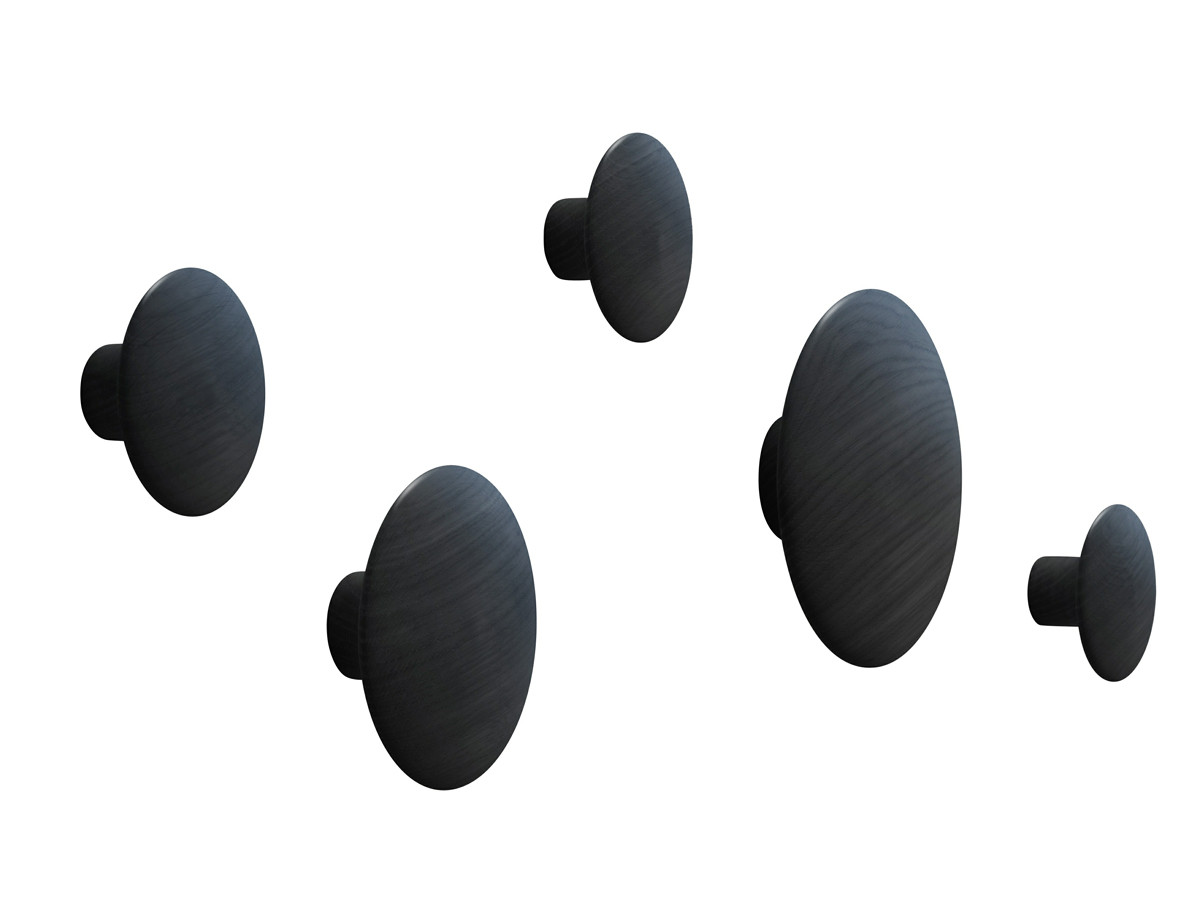 Modern Black Coat Hooks Buy The Muuto The Dots Coat Hooks At Nest Co Uk