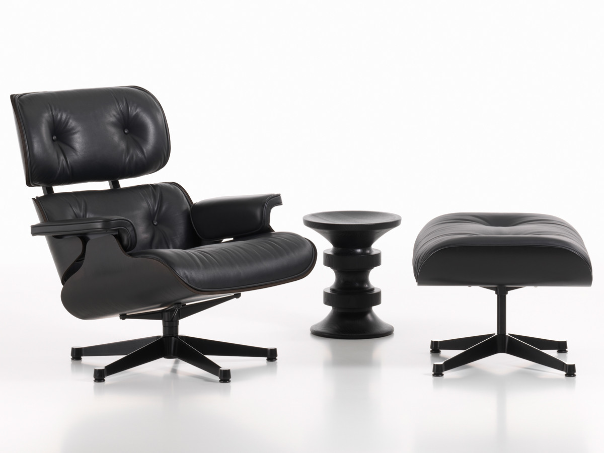 Eames Lounge Buy The Vitra Eames Lounge Chair & Ottoman - All Black At