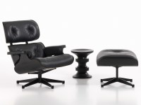 Buy the Vitra Eames Lounge Chair & Ottoman - All Black at ...