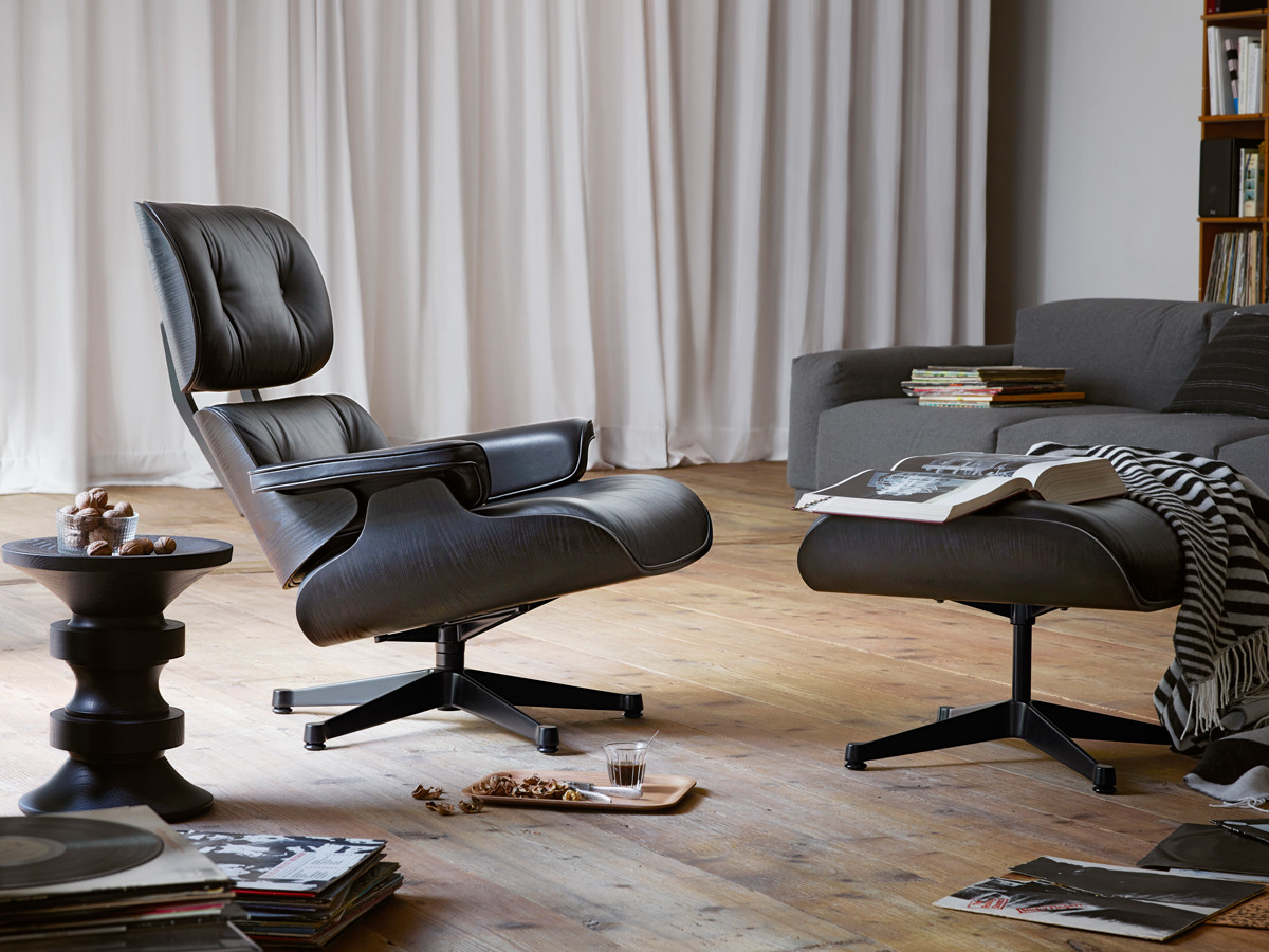 Lounge Chair Eames Buy The Vitra Eames Lounge Chair & Ottoman - All Black At