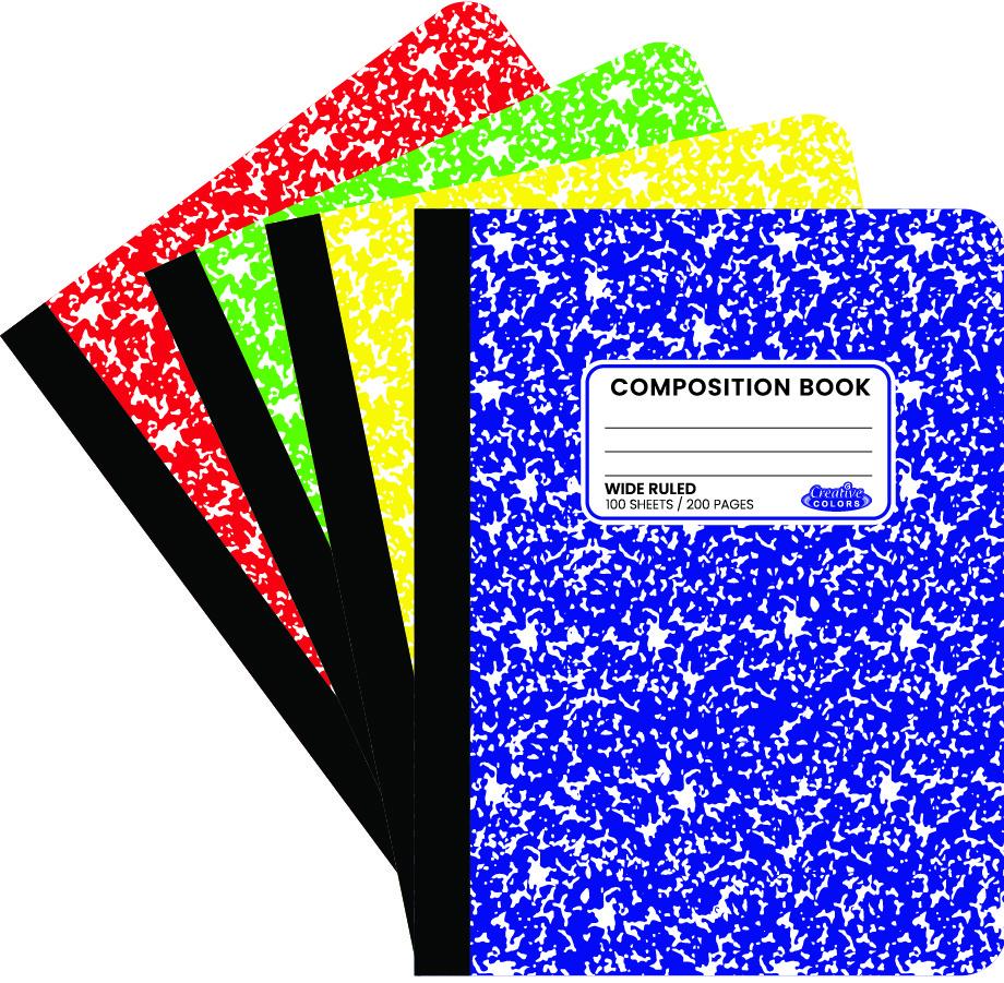 Wholesale Composition Book Neon Colors Sku 1948758