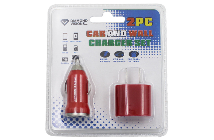 Wholesale 2 Piece Car And Wall Usb Chargers Sku 2325037