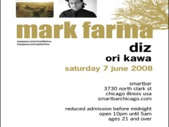 6/7 – Mark Farina, Diz & Ori Kawa @ Smart Bar, Chicago