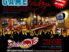 Come Play at Game Fridays @ The Sideline, Maryland