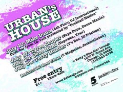 7/31 – Urban's House @ Betty's w/Terry Hunter – Chicago