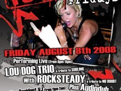 8/8 – Fri: Lou Dog Trio at Betty's – CA
