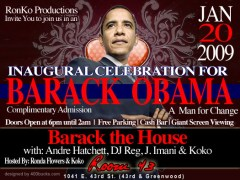 "1/20 – RonKo Productions Pres. ""An Inaugural Celebration"" – Chicago"