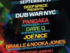 Deep Space Presents Dub War NYC @ Cielo 09/19