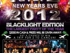 Saturday Dec 31st  New Years Eve BLACKLIGHT EDITION @ Zero Gravity – Naperville, IL