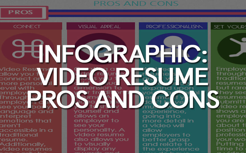INFOGRAPHIC Video Resume Pros and Cons - Video Production - Video