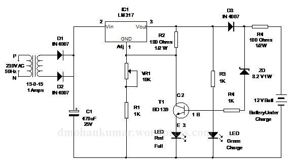 12 volt battery charger diagram on 12 volt voltage regulator