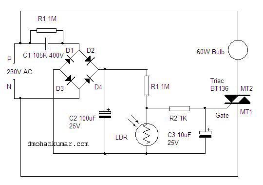 led light running mixed using not gate
