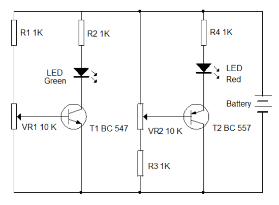 battery low voltage indicator battery status indicator circuit battery
