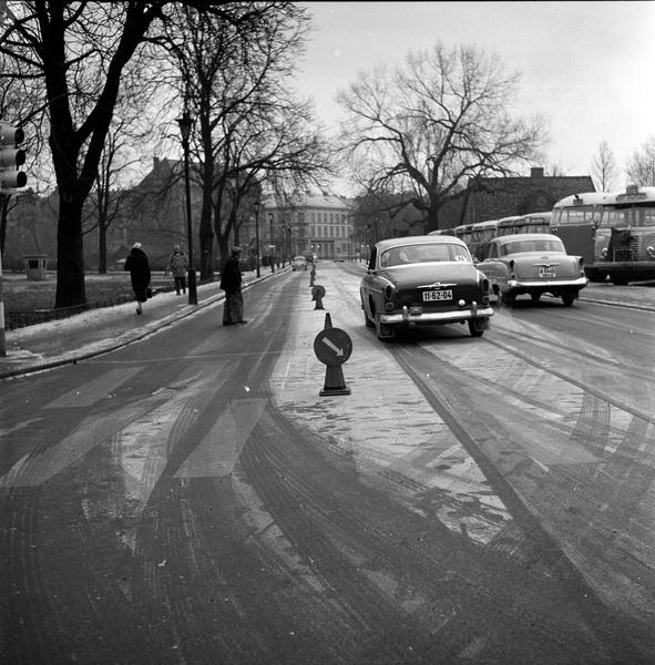Trafikk Torggata Oslo 18 11 1959 Norsk Folkemuseum Digitaltmuseum