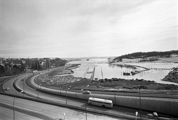 Trafikk På Frognerstranda Ved Frogrekilen Og Bygdøylokket I Oslo April 1963 Norsk Folkemuseum