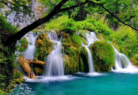 Wallpaper Falling Water Plitvice Waterfalls Waterfalls Amp Nature Background