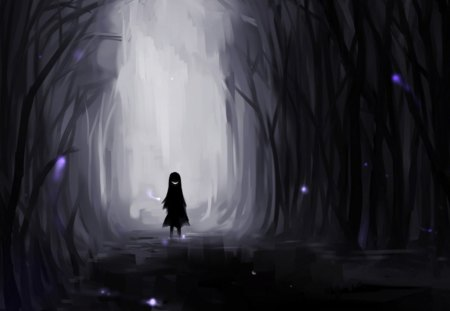 Cute Girl N Boy Wallpapers Girl In The Dark Other Amp Anime Background Wallpapers On