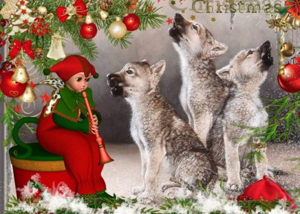 3d Wolves Wallpapers Christmas Carol 3d And Cg Amp Abstract Background