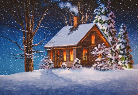 3d Snowy Cottage Animated Wallpaper Free Download Winter House Other Amp Abstract Background Wallpapers On