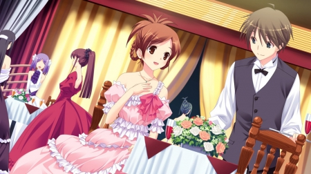 Hd Wallpaper Cute Girl And Boy Party Time Other Amp Anime Background Wallpapers On
