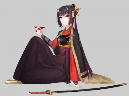 Girl With Katana Wallpaper Lady Oni Other Amp Anime Background Wallpapers On Desktop