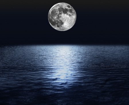 Kde Animated Wallpaper Moon Over The Ocean Moons Amp Space Background Wallpapers