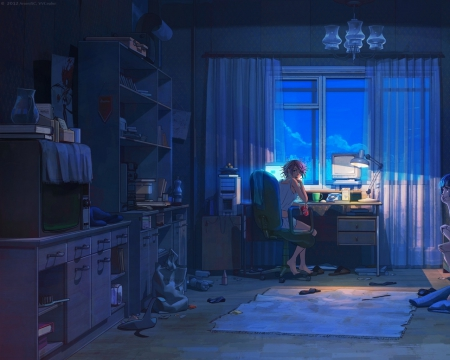 Boy N Girl Sad Wallpaper A Messy Room Other Amp Anime Background Wallpapers On