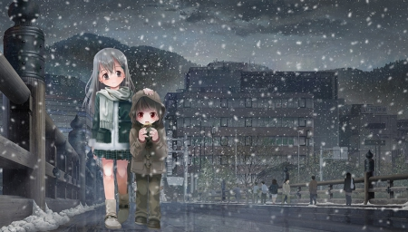 Cute Kid Wallpapers Free Download Winter Night Other Amp Anime Background Wallpapers On