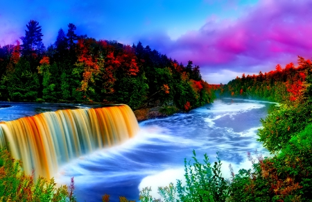 Falling Leaves Wallpaper Free Download Colors Waterfall Waterfalls Amp Nature Background