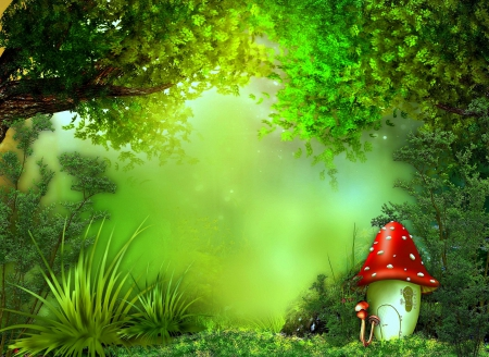 3d Mushroom Garden Hd Wallpaper Download Cute Mushroom Forests Amp Nature Background Wallpapers On